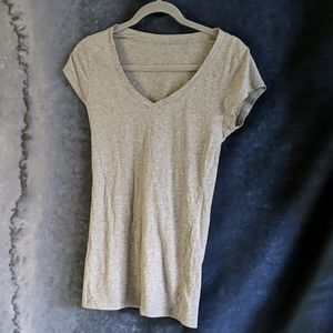 Grey v neck tank top